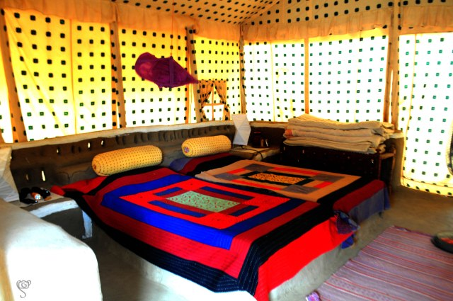 Interior of our Tent at Shaam-e-Sarhad Resort