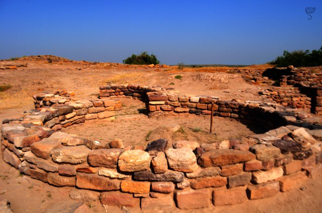 Ruins of Circular Huts in Dholavira