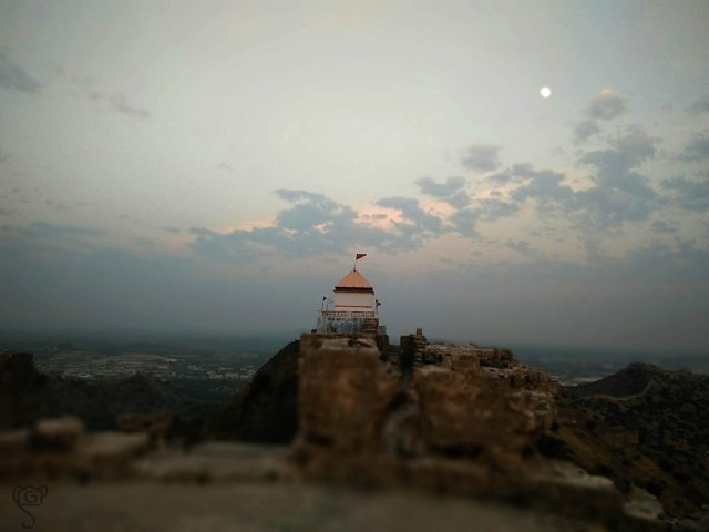 Temple on the top of Bhujia Hill
