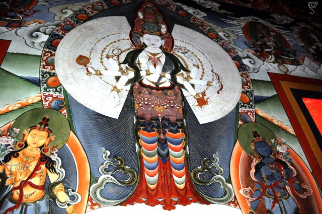 Thangka on the wall of Tawang Monastery