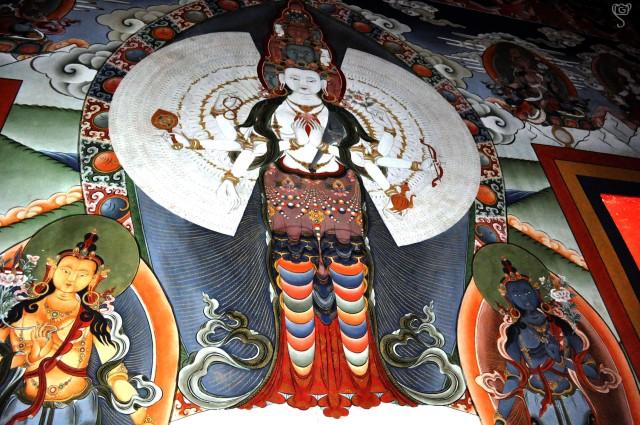 Thangka on the wall of Tawang Monastery