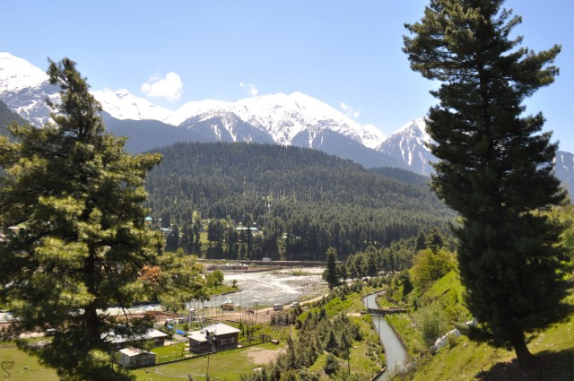 View of Lider Valley from Mammal Temple, Pahalgam