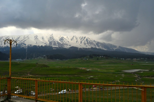 The Snow Clad Mountain Range in Gulmarg