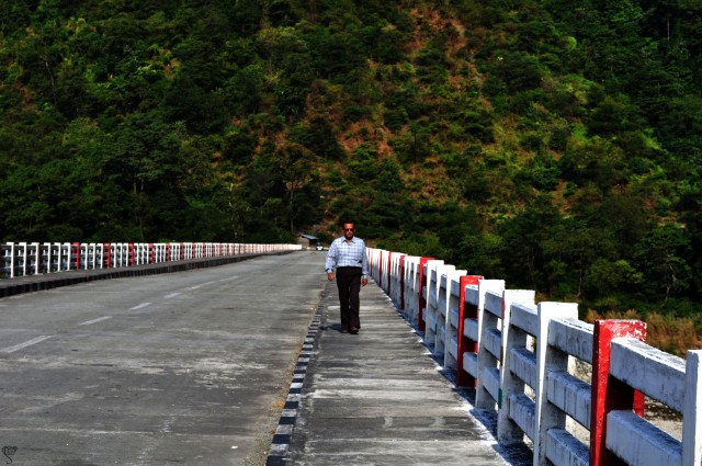 The bridge over the Lohit River