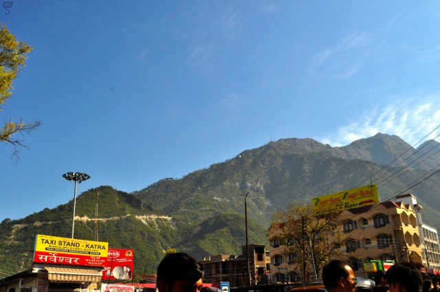 Katra City with the tiny view of the Bhawans on the hills