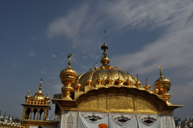 The golden dome of the Harmandir Sahib
