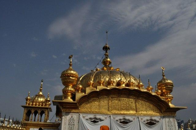 The golden dome of the Harmandir Sahib