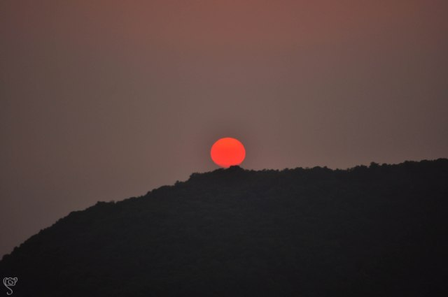 The setting sun, taken from the sunset point