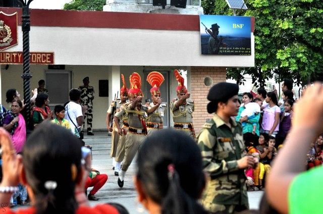 The Parade at Wagah Border