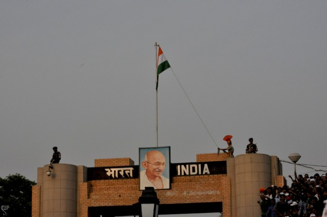 The gate with the image of the father of the Nation