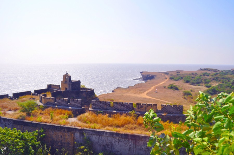 The church in the Diu Fort overlooking the sea