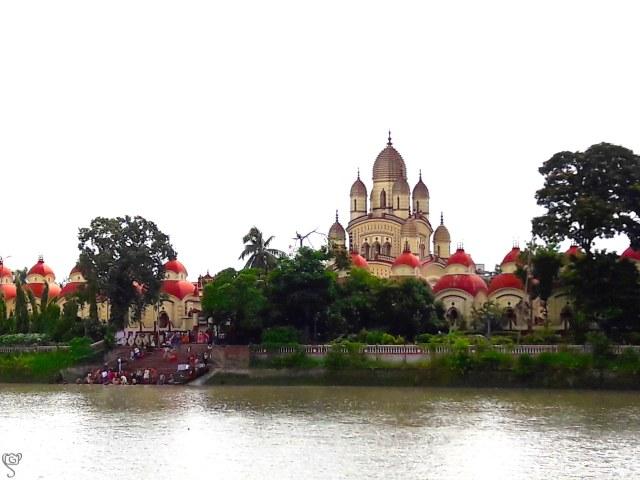The Dakshineshwar Temple taken from the ferry