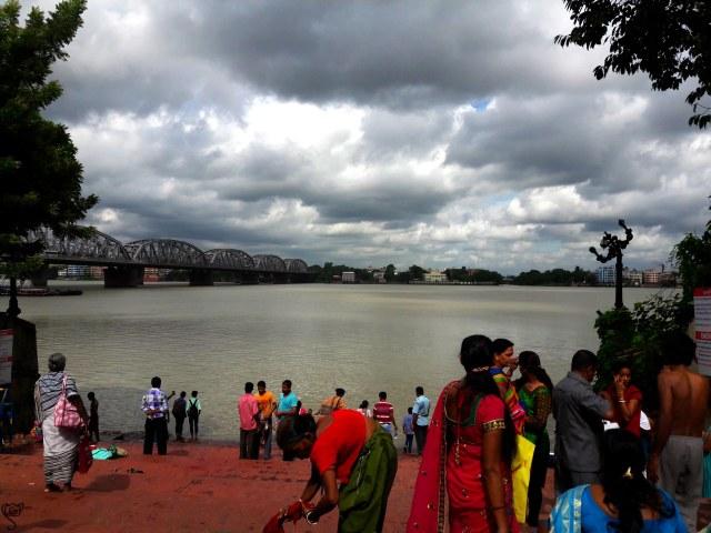 The Vivekananda Bridge from the Bathing ghat
