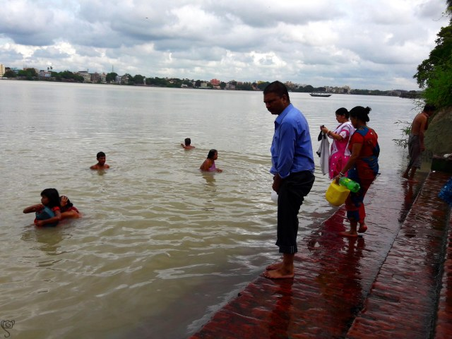 The bathing ghat