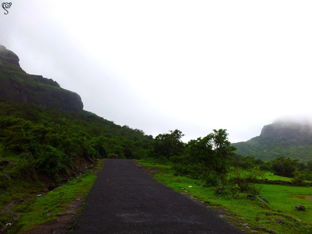 The Visapur Fort of the left and the Lohagad to the right