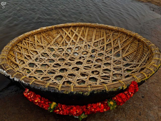 The beautifully decorated Coracle
