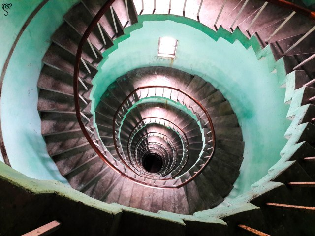 The circular stairs of the lighthouse
