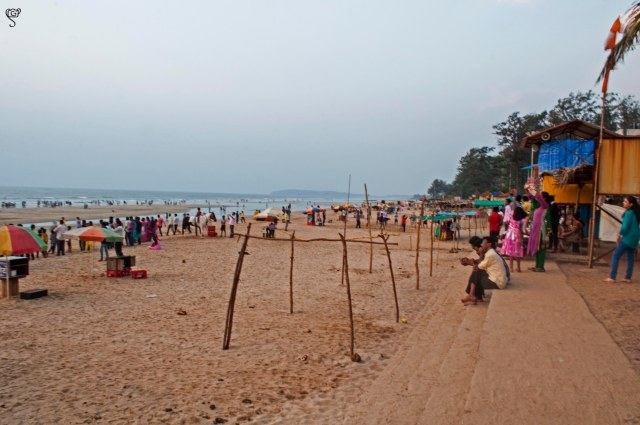 Stalls for souvenirs and beach activities