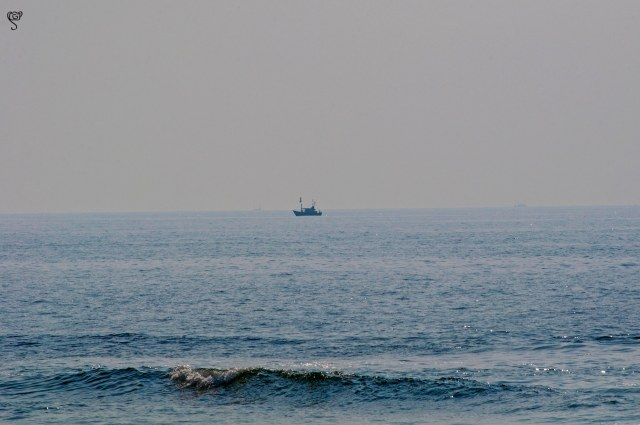 A trawler at a distance