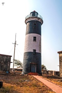 The front side of the lighthouse