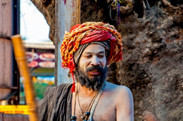 The ash smeared sadhu