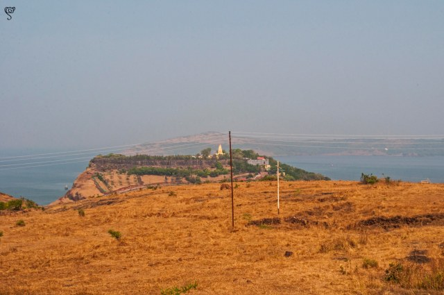 The Bhagawati temple complex on the other hill