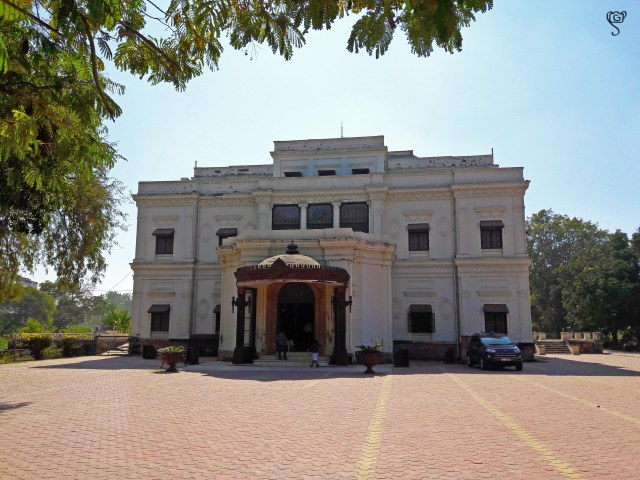 Front view of the Lal Baag Palace