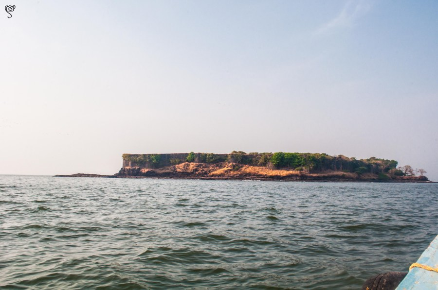 Suvarnadurg Fort on the rocky island