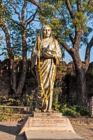 The statue of Devi Ahilya