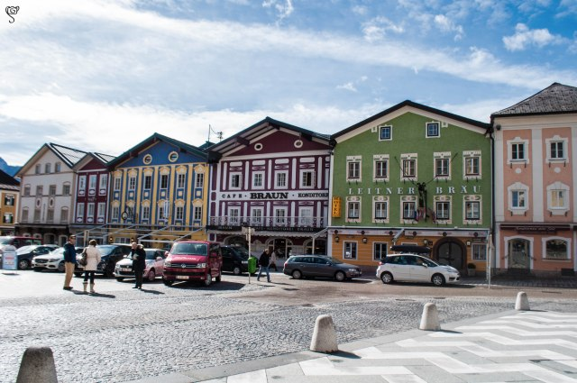 The colourful buildings