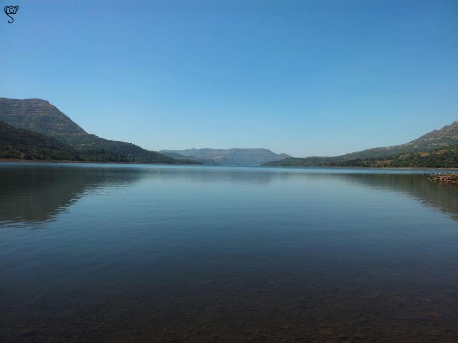 Mulshi lake in dry season