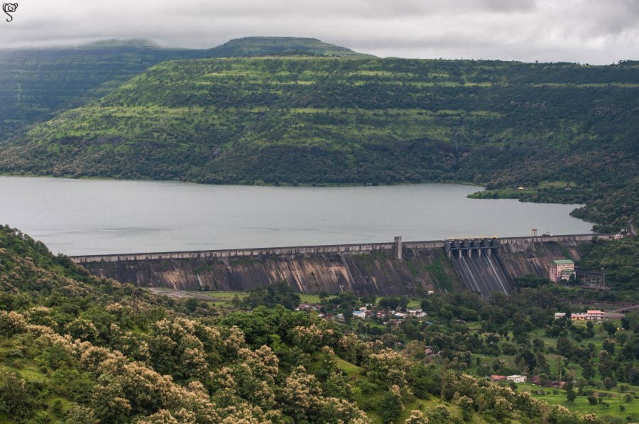 Dimbhe Dam and its reservoir