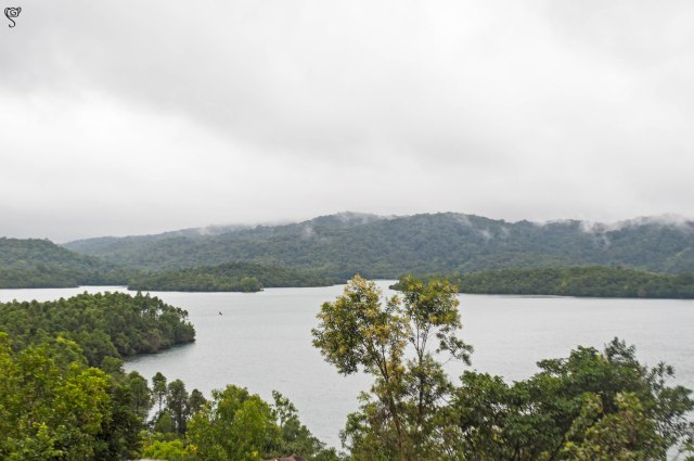Talakalale Lake and the scattered islands