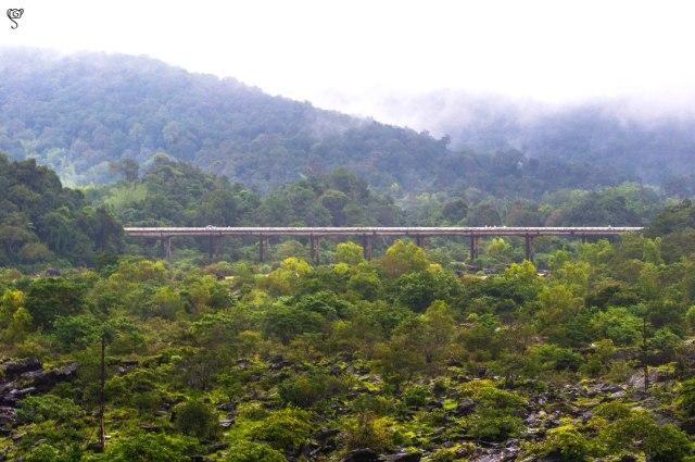 The bridge over the Sharavathi river