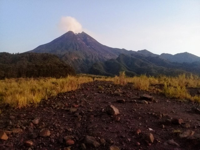 Mt Merapi fuming. P.C: Guide