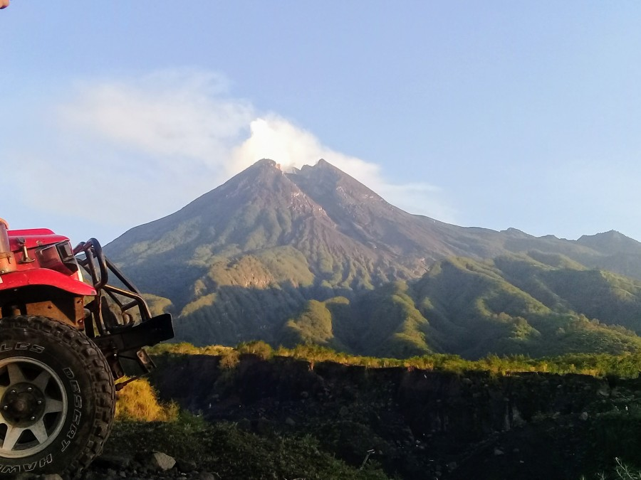 Mt Merapi on a clear weather. P.C: Our Guide