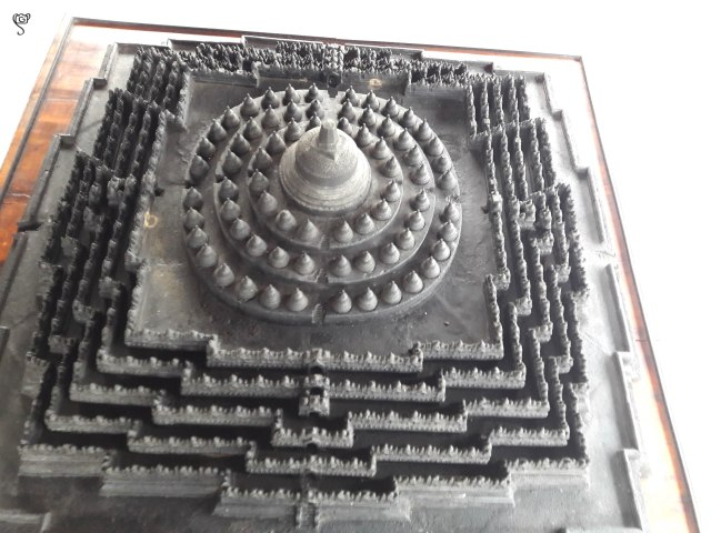 Top view of the replica... The temple resembling tantric mandala