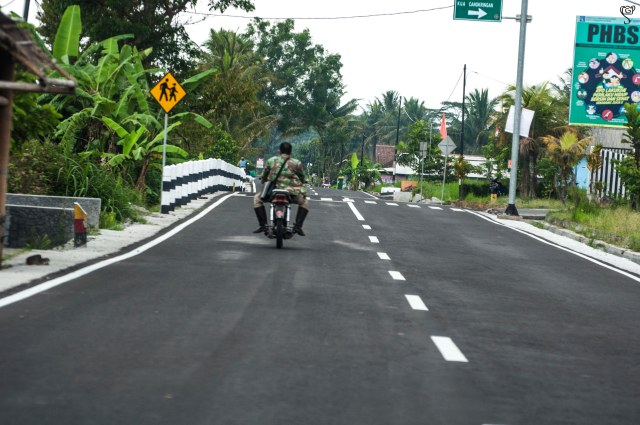 The beautiful village roads in Jogjakarta