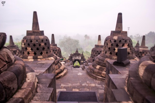 The stupas and the stairways