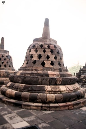 The stupa on the lotus base