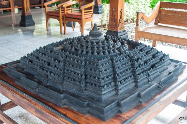 The replica of Borobudur Temple in the Manohara Resort