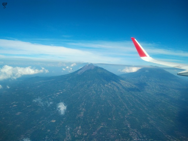 There were so many volcanoes seen from above