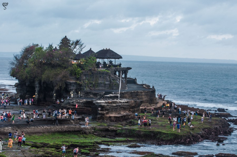 Tanah Lot temple during sunset