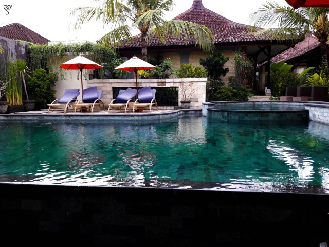 The beautiful pool in our hotel