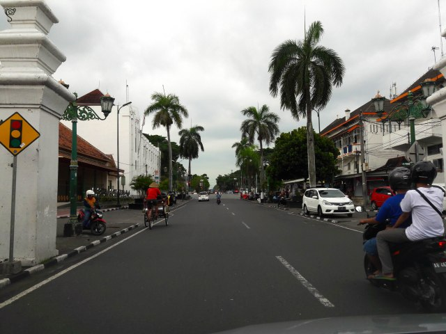 The cityscape of Yogyakarta with the Dutch influence on the buildings