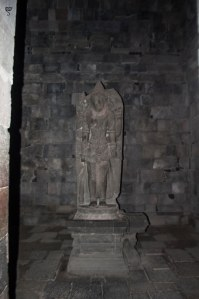 The statue of Vishnu in Prambanan temple