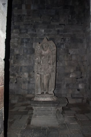 The statue of Vishnu in Prambanan temple