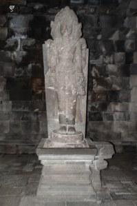 The statue of Brahma in Prambanan temple