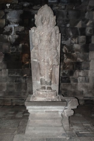 The statue of Brahma in Prambanan temple