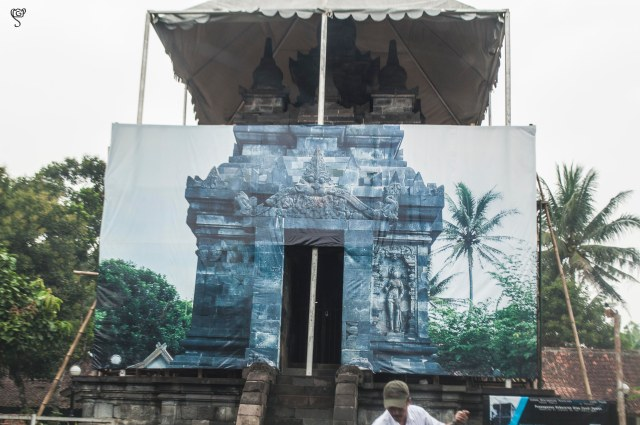 Pawon Temple behind the screen